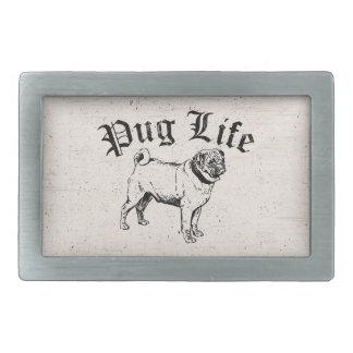 Gángster divertido del perro de la vida del barro hebillas cinturon rectangulares