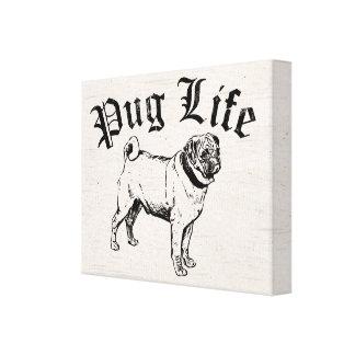 Gángster divertido del perro de la vida del barro impresión en lienzo