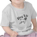 Gángster divertido del perro de la vida del barro camisetas