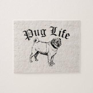 Gángster divertido del perro de la vida del barro puzzle