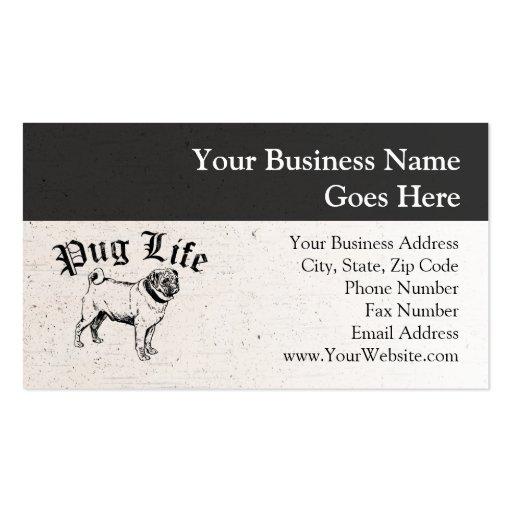 Gángster divertido del perro de la vida del barro  plantillas de tarjetas de visita