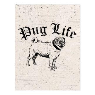 Gángster divertido del perro de la vida del barro postal
