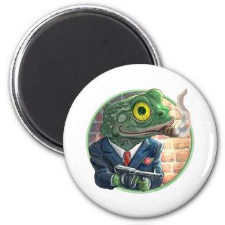 Gangster Frog Magnet