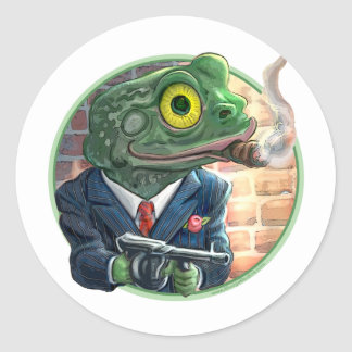 Gangster Frog Sticker