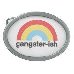 Gangster-ish Oval Belt Buckle