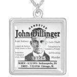 Gangster John Dillinger Custom Necklace