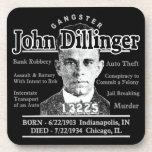 Gangster John Dillinger Drink Coaster