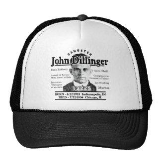 Gángster John Dillinger Gorros