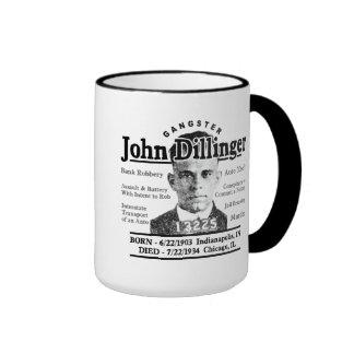 Gangster John Dillinger Ringer Coffee Mug