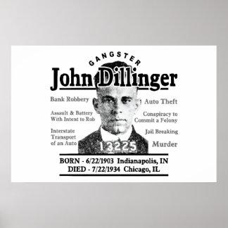 Gángster John Dillinger Impresiones