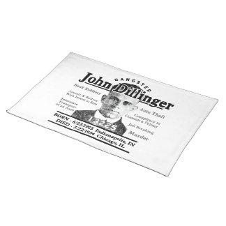 Gangster John Dillinger Placemat
