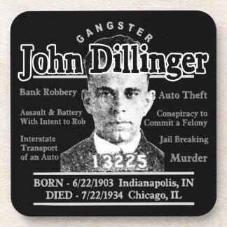Gángster John Dillinger Posavasos De Bebida