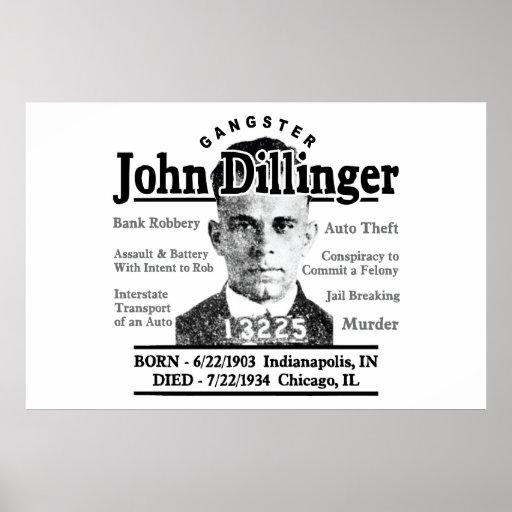 Gángster John Dillinger Póster