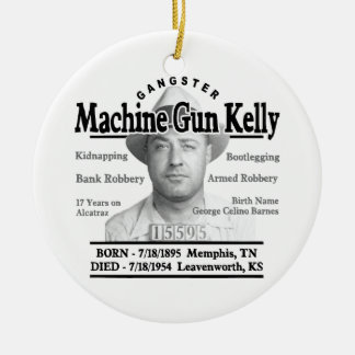 Gangster Machine Gun Kelly Ceramic Ornament