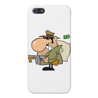 Gangster Man with his Gun and Bag of Money Case For iPhone SE/5/5s