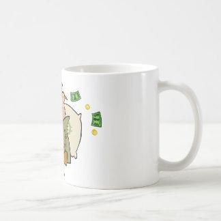 Gangster Man With His Gun And Bag Of Money Coffee Mug
