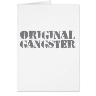 Gángster original tarjeta de felicitación