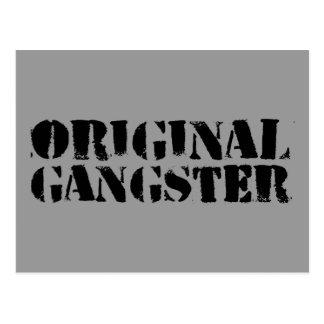 Gángster original tarjeta postal