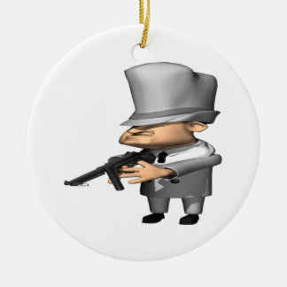 Gangster Double-Sided Ceramic Round Christmas Ornament