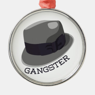 Gangster Round Metal Christmas Ornament