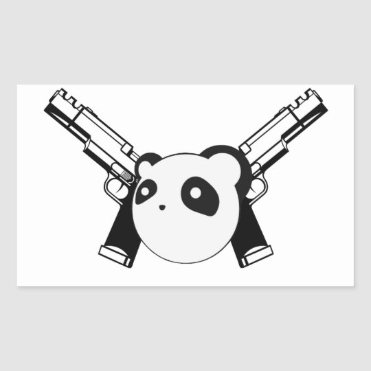 Gangster panda sticker