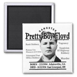 Gangster Pretty Boy Floyd 2 Inch Square Magnet