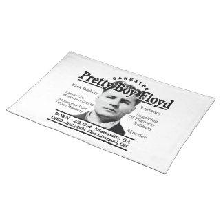 Gangster Pretty Boy Floyd Cloth Placemat