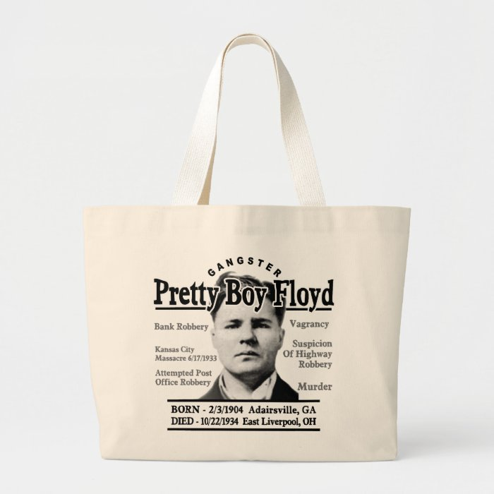 Gangster Pretty Boy Floyd Large Tote Bag