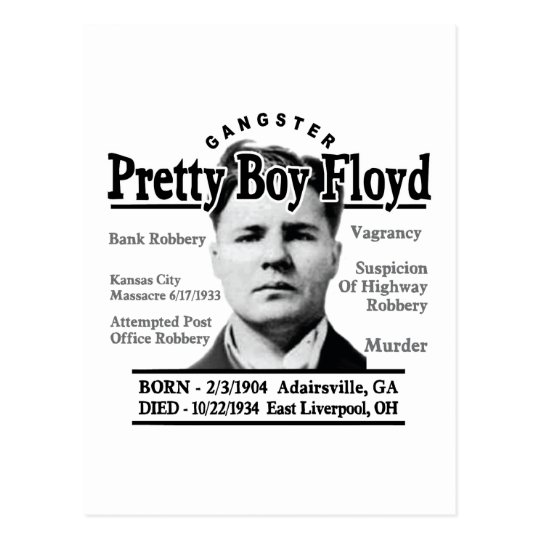 Gangster Pretty Boy Floyd Postcard