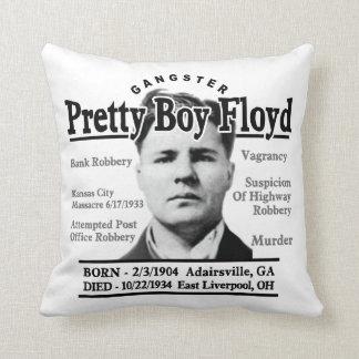 Gangster Pretty Boy Floyd Throw Pillow