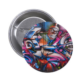 Gangster rapper urban graffiti street art 2 inch round button