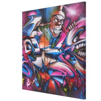 Gangster rapper urban graffiti Street art Canvas Print