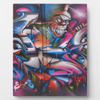 Gangster rapper urban graffiti street art photo plaque
