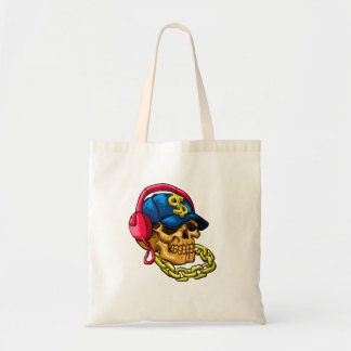 Gangster skull tote bag