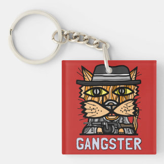 """Gangster"" Square (double-sided) Keychain"