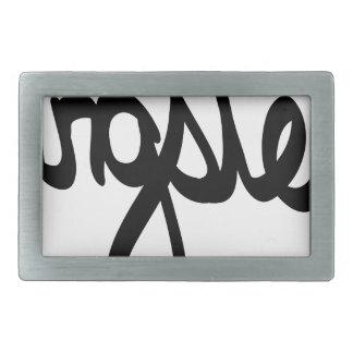 gangster-typography belt buckle