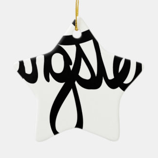 gangster-typography ceramic ornament