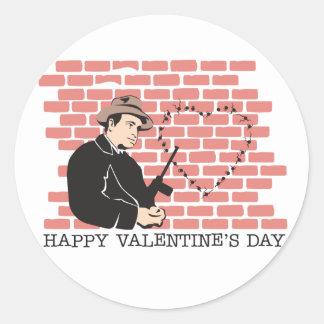 Gangster Valentine's Day Stickers
