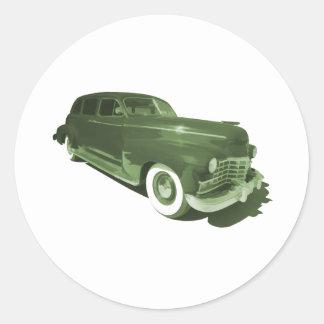 Gángsteres Cadillac Pegatinas Redondas