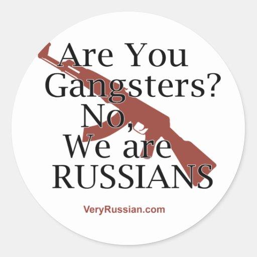 Gángsteres rusos Брат 2 Etiqueta Redonda