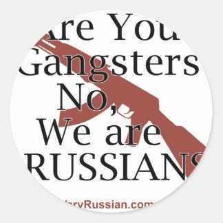 Gángsteres rusos Брат 2 Pegatina Redonda
