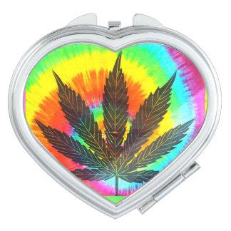 ganja leaf compact mirror