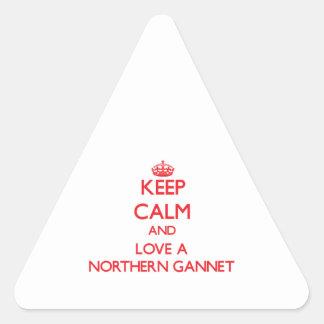 Gannet septentrional pegatina triangular