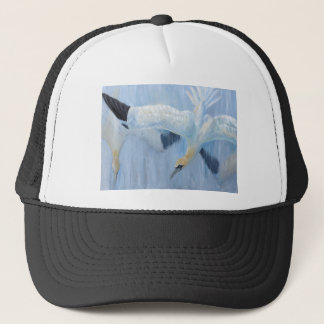 Gannets diving unique gifts for you trucker hat