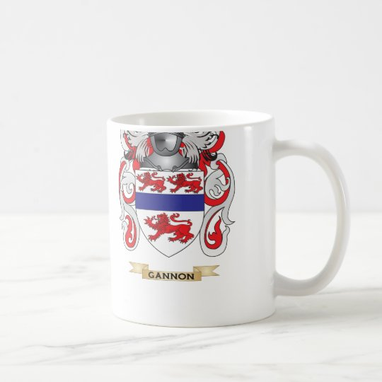 Gannon Coat of Arms (Family Crest) Coffee Mug