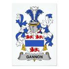 Gannon Family Crest Card
