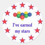 Ganó a mis estrellas la bola de Bocce Etiqueta Redonda