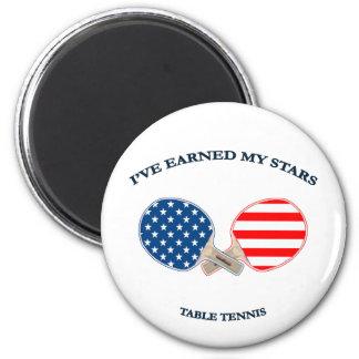 Ganó a mis estrellas tenis de mesa imán redondo 5 cm