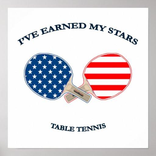 Ganó a mis estrellas tenis de mesa impresiones