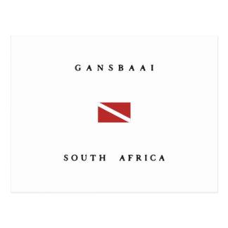 Gansbaai South Africa Scuba Dive Flag Postcard